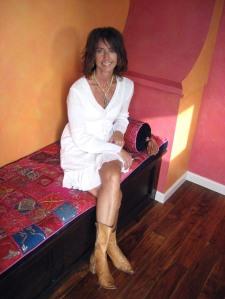 Silvia in here studio