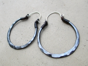 Black Hoops Medium