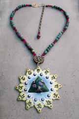 Heart Chakra wtih Ruby Zoisite by Silvia Peluso