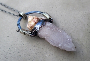 Small Lavender Spirit Quartz Shell by Silvia Pelsuo