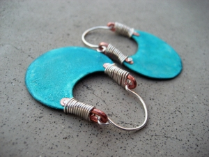 Turquoise Hoops by Silvia Peluso