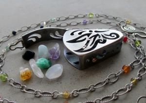 Butterfly Locket Sterlin Silver by Silvia Peluso
