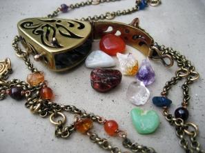 Butterfly Locket in Brass  by Silvia Peluso