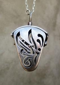 Buterfly Locket Sterling Silver by Silvia Peluso