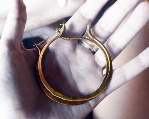 Big Golden Hoops by Silvia Peluso