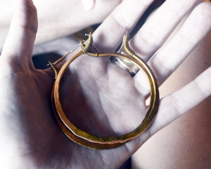 Big Golden Hoops by Silvia Peluso