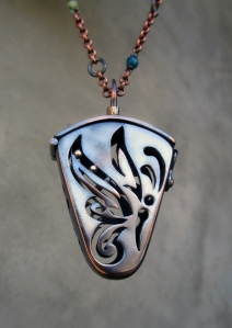 Butterfly Locket in Copper by Silvia Peluso