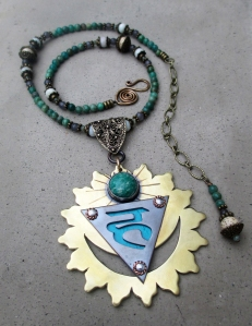 Throat Chakra Necklace with Amazonite by Silvia Peluso