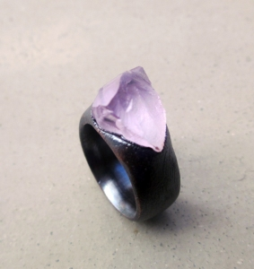 Copper Ring with Kunzite by Silvia Pelsuo