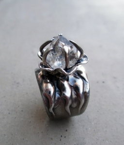 Herkimer Diamond Ring by Silvia Peluso