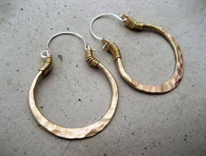Small Golden Hoops by Silvia Peluso