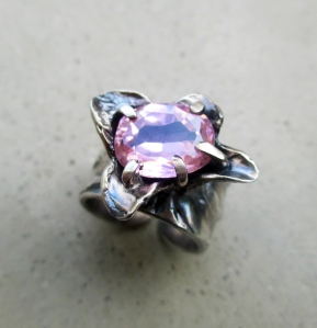 Zircon Flower Ring by Silvia Peluso