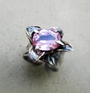 Zircon Flower Ring by Silvia Peluso
