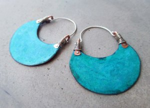 African Beauty Hoops big by Silvia P eluso4
