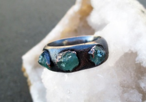 Blue Apatite Ring by Silvia Peluso