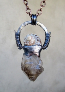 Elestial Shell Pendant by Silvia Peluso