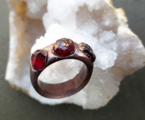 Garnet Ring by Silvia Peluso