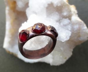 Garnet Ring by Silvia Peluso