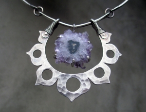 Lotus Flower Stalactite Sterling Silver by Silvia Peluso