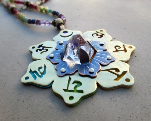 Seven Chakra Necklace with Apophyllite by Silvia Peluso