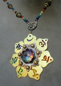 Seven Chakra Necklace Rutilated Q Point Alesh 2