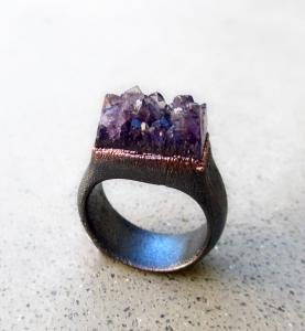 Amethsyt Ring by Silvia Peluso