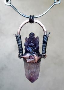 Amethyst Ganesha Choker by Silvia Peluso