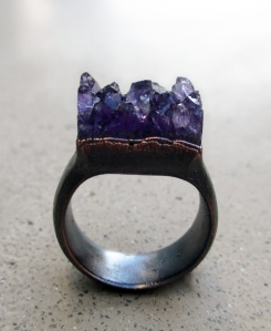 Amethyst Ring by Silvia Peluso