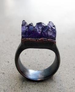 Amethyst Ring by Silvia Peluso