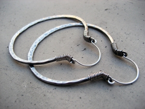 big sterling silver hoops by Silvia Peluso