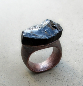 Black Tourmaline Ring by Silvia Peluso