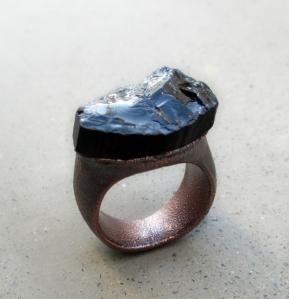 Black Tourmaline Ring by Silvia Peluso