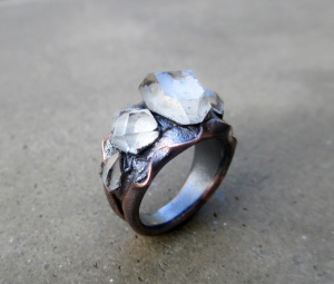 Mystical Tibetan Quartz Ring by Silvia Peluso