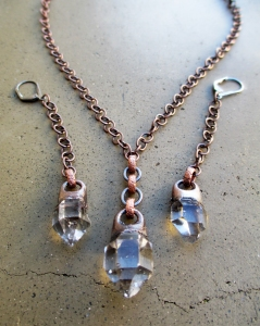 Tibetan Quartz Necklace Earring Set by Silvia Peluso