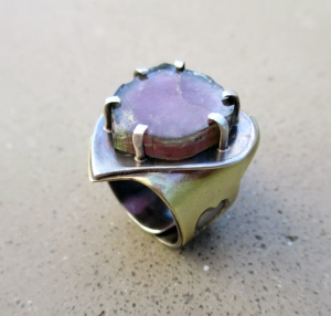 Watermelon Tourmaline Ring by Silvia Peluso