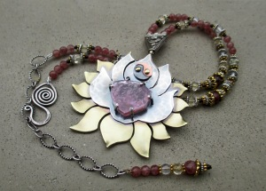 Crown Heart Chakra Necklace by Silvia Peluso