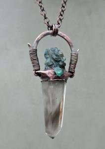 Labradorite Ganesha Smoky Quartz Blue Apatite by Silvia Peluso