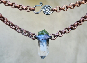 Rutilated Quartz Peridot Choker