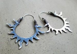 Sun Hoops Sterling Silver by Silvia Peluso