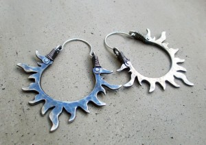 Sun Hoops Sterling Silver by Silvia Peluso