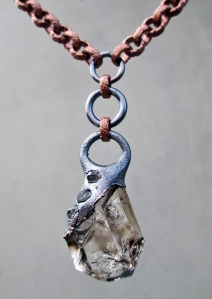 Brandberg Tibetan Quartz Pendant by Silvia Peluso