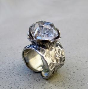 Herkimer Flower Ring by Silvia Peluso