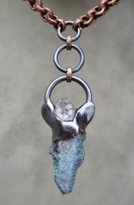 Aqua Aura Spirit Quartz Tibetan Quartz Angel Amulet by Silvia Peluso