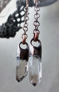 Smoky Quartz Earrings by Silvia Peluso