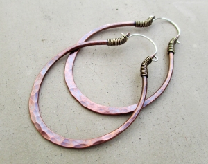 Big Oval Copper Hoops by Silvia Peluso