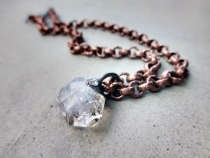 Crown Chakra Necklace with Faden Quartz and Tibetan Quartz by Silvia Pelusoetan 5