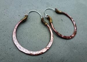 Medium Copper Hoops by Silvia Peluso