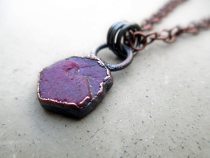 Heart Chakra Necklace with Ruby Record Keeper by Silvia Peluso