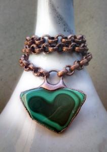 Heart Chakra Choker Malachite by Silvia Peluso