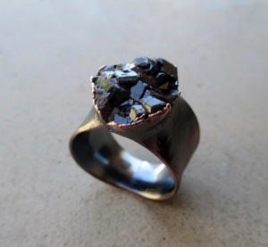 Andradite Ring by Silvia Peluso